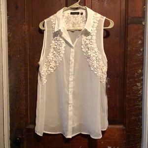 Elegant white dress top